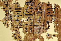 Papiro encontrado en Egipto