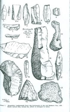 Poole's illustrations of mesolithic instruments from the brickearth of the old Western Yar