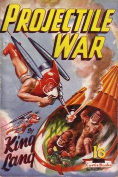 Projectile War King Lang 1st edition Curtis Warren 1950s British pulp digest