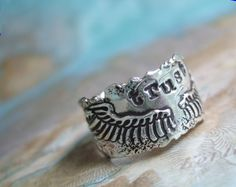 Rustic Jewelry Rustic Ring Rustic Wings Ring TRUST by HappyGoLicky, $72.00