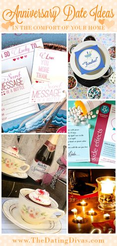 Awesome At-Home Anniversary Date Ideas for when you just don't feel like going out!...