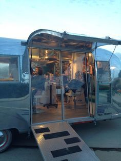 Mobile salon for on location services.