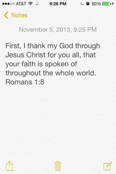 The Word # Faith
