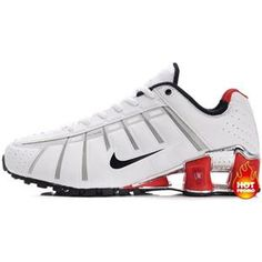 quality design badb6 91aba www.asneakers4u.com  Mens Nike Shox NZ 3 OLeven White Red Black Nike