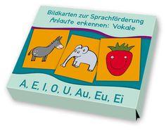 Bildkarten zur Sprachförderung - Anlaute kernnen: Vokale ++ A wie Apfel, E wie…