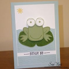 Sue Vine | Stampin' Up! | MissPinksCraftSpot | 2016 Occasions Catalogue | Playful Pals | Pyramid Pals | Frog