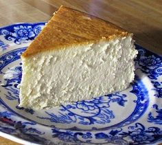 New York Cheesecake ~   It is creamy smooth, lightly sweet, with a touch of lemon..