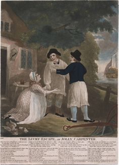 """""""The Lucky Escape, ___or Jolly Carpenter.   306"""" 1793  Lewis Walpole Library Digital Collection 793.10.24.2"""