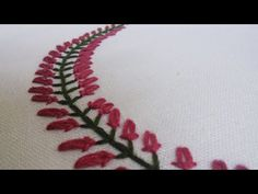 Beautiful Embroidery Pattern for Collars, Baby pillow cases etc... | HandiWorks #35 - YouTube