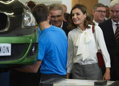 Queen Letizia Attend the Opening of Professional Courses in Teruel