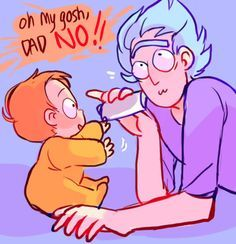 Anonymous said: Please more Rick being cute with baby!Morty Answer: I think there were more dangerous moments than cute ones tbh because it's Rick. Rick And Morty Comic, Rick Und Morty, Rick And Morty Poster, Nancy Zieman, Fanart, Smash Book, Pink Floyd, Tim Holtz, Ricky Y Morty