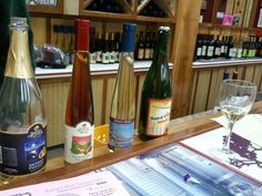 In the back of the grocery store they have a wine tasting bar with a great selection of fruit wines.