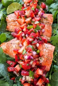 Salmon Salad Recipes, Grilled Salmon Recipes, Grilled Seafood, Baked Salmon, Grilled Salmon Dinner, Grilled Salmon Salad, Jalapeno Salsa, Jalapeno Recipes, Spicy Salsa