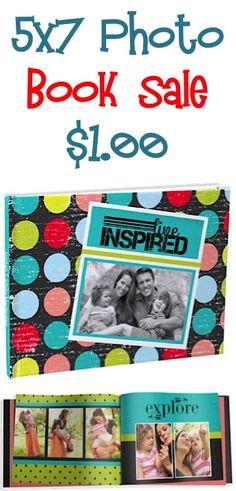 5x7 Custom Cover Photo Book Sale: $1.00 + s/h!