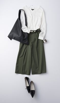 Culottes: At-the-knee works with tennies (no socks), and pointed-toe shoes. ...On me, anyway.