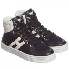 Unisex Navy Blue High-Top Trainers