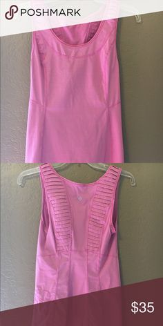 Lululemon Dash Tank Perfect condition no flaws. Pet free smoke free home. Cute ruffles on back and iPod holder. lululemon athletica Tops Tank Tops