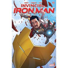 Invincible Iron Man (2015-) #3 Written by Brian Michael Bendis Art by David Marquez Cover by David Marquez Justin Ponsor Tony is chasing the evil Madame Masque as her actions threaten to rip all of reality apart! But it is who Tony is teaming up with to do this that will have everyone talking. And a real good look at exactly what Iron Man's new armor does...and it is something!