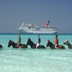 Carnival Cruises starting at $99. Forget the ship, I want to ride a horse in that water!