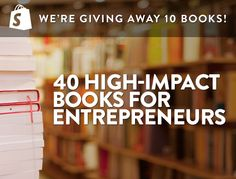 Entrepreneurship Book Giveaway and a great list of books!
