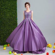 Angel Wedding Dress Marriage Bride Bridal Gown Vestido De Noiva Romantic flowers, purple 2017 0252