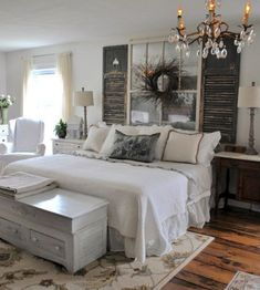 Rustic Farmhouse Bedroom Decorating Ideas To Transform Your Bedroom (19)