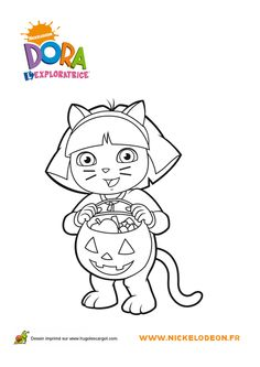 Dora Halloween Coloring Pages Id 04407 Source