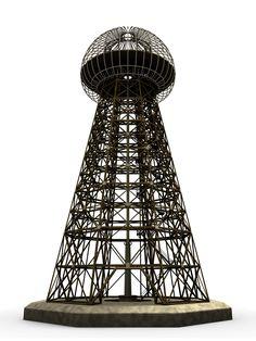 nikola tesla inventions | ... Transmitter, 3d Render by Leo Blanchette. Invention of Nikola Tesla