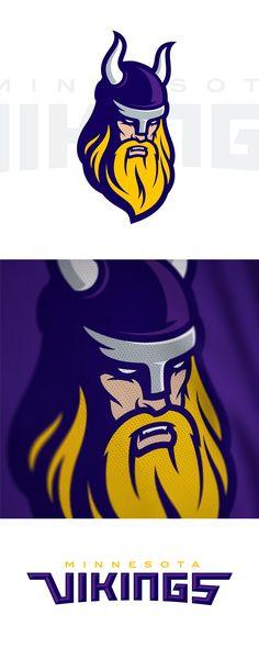 Minnesota Vikings Rebrand Concept | American Logo Sport Theme on Behance