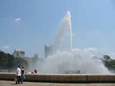 pittsburgh - Point State Park Fountain Kids begged me to swim in fountain..I said no just for today. Plan to go back soon. June 12