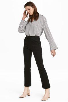 Spodnie z diagonalu - Czarny - ONA   H&M PL 1