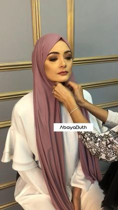Our Model is wearing our Premium Jersey Hijab in Orchid Berry along with our Hijab Cap in Mocha And Turban Hijab, Turban Mode, Turban Outfit, Hijab Fashion Summer, Modest Fashion Hijab, Muslim Fashion, Modest Outfits Muslim, Hijab Style Dress, Modern Hijab Fashion
