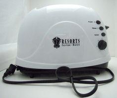 Ad Art Retro Resorts Casino Hotel Retro 2 Slice Toaster Promotional White New  #ResortsCasino