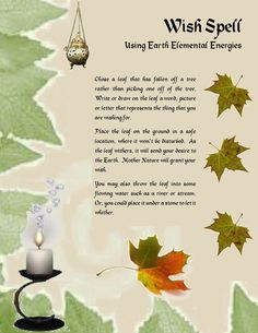 Wish spell earth elemental magick Wicca Witchcraft, Magick Spells, Pagan, Candle Spells, Luck Spells, Wiccan Witch, Money Spells, Fairy Spells, Real Spells