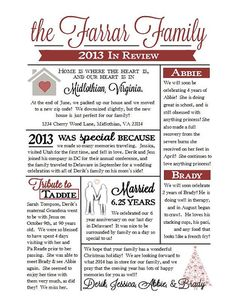 Family newsletter template by jamie schultz designs for Christmas newsletter design ideas