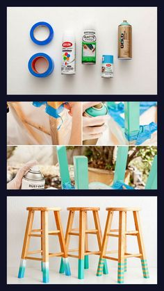 13.Color Dipped Stools