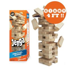 GIANT 4 FOOT Jenga Genuine Hardwood Game