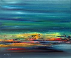 ARTFINDER: Evening Journey #3 by Beata Belanszky Demko - It is just like travelling with train in the evening at high speed, isn't it?  It is an original oil painting on a 25 x 30 cm canvas. Painted with brush an...