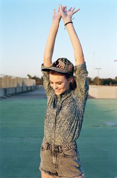 The Spring Lookbook / Photography by Kathy Lo #urbanoutfitters Dumb hat/ cute top and shorts