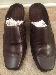 e9b97049e9ef Easy Spirit Brown Leather Mules (Womens - Size 9M)  fashion  clothing