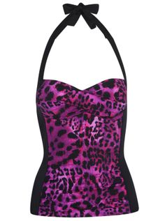 SwimWear - Animal Tankini Top  Needed to cover my 'lines' - I am not a Mummy with stretchmarks - I am a Tiger who has earnt her Stripes:)