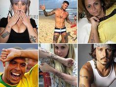 Pense bem! Veja os famosos que se arrependeram de alguma tattoo - Fotos - R7 - assunto do programa de Roberto Justus Mais -dezembro 20l4