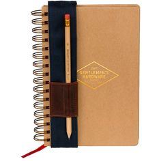 Gentlemen's Hardware Notebook design by Wild & Wolf (145 CNY) ❤ liked on Polyvore featuring home, home decor, stationery, filler, notebooks and stationary