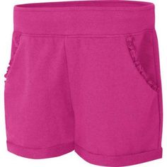 Hanes Girls' French Terry Ruffle Pocket Short, Size: Medium, Pink