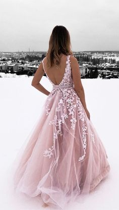 princess pink ball gown prom dresses, chic backless long prom dresses for teens, prettiest junior prom dresses with lace A-Line V-Neck Champagne Tulle Prom Dress with Beading Appliques Red Lace Prom Dress, Pretty Prom Dresses, Junior Prom Dresses, Pink Prom Dresses, Plus Size Prom Dresses, Elegant Dresses, Sexy Dresses, Formal Dresses, Summer Dresses