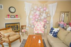 Bridal shower chair...makes pictures look so much better!
