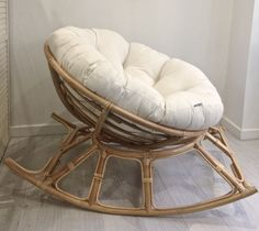 If you love your chair you are going to adore our new papasan chair! its just as super comfy as a standard papasan chair but it rocks! Big Comfy Chair, Cozy Chair, Bedroom Chair, Bedroom Decor, Papasan Chair, Chair Bench, Swivel Chair, Chair Upholstery, Chair Cushions