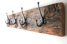Wood Grain Reclaimed Barn Wood Coat Rack