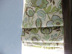 Mini-blinds turned gorgeous roman shade