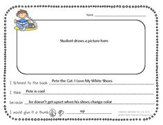 Common Core Listening Center Response Sheets